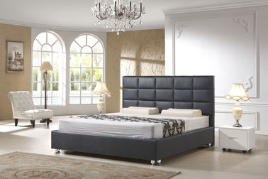 China Modern Italian Leather Beds For Hotel Project And Apartment Simple Design supplier