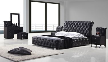 China Upholstered Italian King Size Bed With Diamomds Customized Service supplier