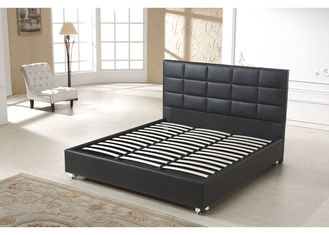 China 3 Star Hotel Style Bed PU Leather Wooden Frame High Density Foam supplier