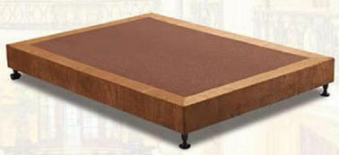 China Brown Mattress Bed Base / Full Size Bed Base Customized Service supplier