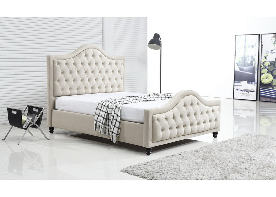 Upholstered Silver Crushed Velvet Double Bed With Diamonds ...