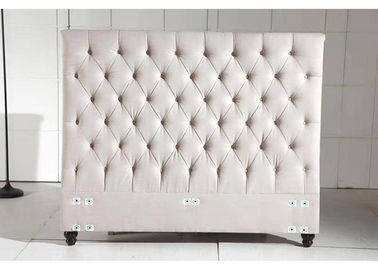 Hotel Home Linen Fabric Headboard , Cream Fabric Headboard With Button